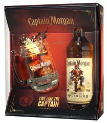 Captain Morgan Spiced Gold s pohárom